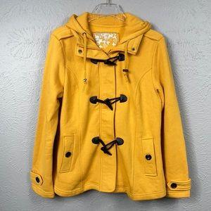 Sebby Mustard Yellow Toggle Closure Jacket Size L